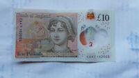 LUCKY £10 NOTE JANE AUSTEN POLYMER TEN POUND ANNIVERSARY BIRTHDAY 01 06 03 JUNE