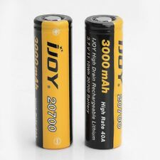 2x IJOY 20700 3000MAH 40A 11.10Wh Li-on lithium Rechargeable High Drain Battery