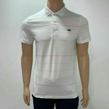 Lacoste Mens Sport Striped Technical Jersey Golf Polo Shirt S M L 3XL 4XL