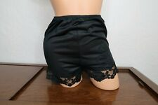 Vintage Deena Black Nylon Lace Pillow Tab High Waist Tap Panties Size 6