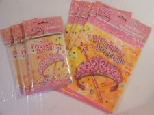 3 Packs Of Princess Party Invitations ~ 4 Packs Of Princess Party Gift Bags