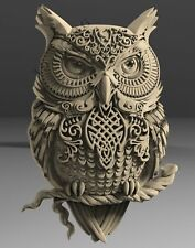 STL 3D Models # DECORATIVE PANEL OWL # for CNC Aspire Artcam Carving Engraver