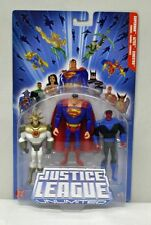 JLU 3 Pack Superman Aztec Sinestro Mattel NIP 4+ 2005 Blue Package S150-23