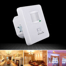Auto On/Off Infrared PIR Occupancy Vacancy Motion Sensor Light Lamp Switch White