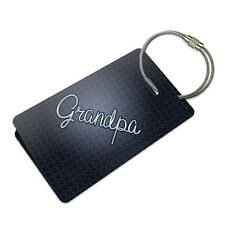 Grandpa Suitcase Bag ID Luggage Tag Set