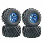 LAFEINA 4PCS Wheel And Rubber Tire Set For 1/10 RC Monster Truck Traxxas HIMOTO