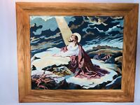 Vtg Paint By Number Painting PBN Christ at Gethsemane Art Award Jesus Framed