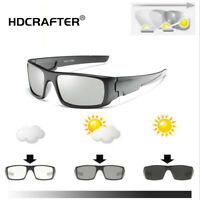 Men's Photochromic Polarized Sunglasses Transition Lens Outdoor Driving Glasses