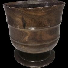 Exceptional 17th Century Carved English Wassail Bowl in Figured Lignum Vitae