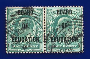 1904 SGo83 ½d Blue Green Board of Education Chester Station Office GU c.£90 dbiq