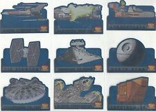 Family Guy Star Wars ANH Complete Spaceships & Transports Chase Card Set ST1-9