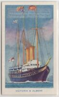 "HMY ""Victoria and Albert"" 1899  British Royal Navy Yacht  75+ Y/O Ad Trade Card"