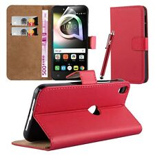 Wallet Flip Book [Stand View] Case Cover For Alcatel Shine Lite + Screen Guard