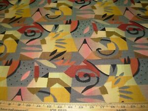 10 YDS~MODERN RETRO GEOMETRIC~CONTRACT WOVEN UPHOLSTERY FABRIC FOR LESS