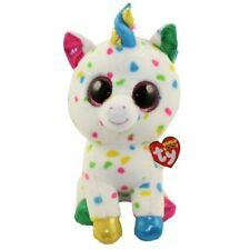 "Ty 9"" Medium HARMONIE Speckled Unicorn Beanie Boos Plush MWMT's Heart Tags 2018"