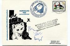 1989 HORNSUND ADW der DDR/PAN Spitzbergen Wyprawa Polarna Polar Cover SIGNED