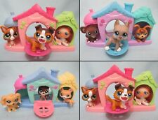 Littlest Pet Shop Triplet House Playset And Random Lot of 3 Puppy Dogs Lps