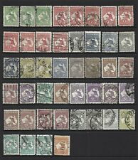 Australia. Kangaroo type collection of 44 stamps, 1913 to 1946, Used.