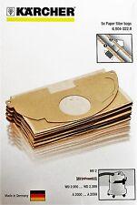 10 ST. Kärcher Papierfiltertüten StaubsaugerBeutel Staubbeutel WD 2.200 WD 2 MV2