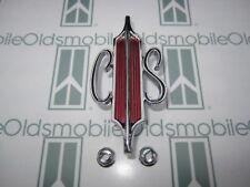 "1967 Olds Cutlass & 442 ""C|S"" Trunk Emblem with Hardware | Deck Lid Emblem"