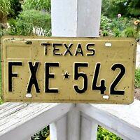 Vintage 1975 TEXAS License Plate auto passenger FXE 542