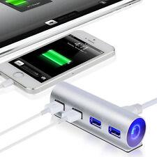 5Gbps Alta Velocidad 4 Puertos USB 3.0 HUB Aluminio Conector Del Adaptador
