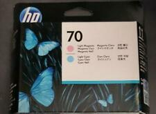 New Genuine Factory Sealed HP 70 Printhead C9405A Lt Cyan / Lt Magenta  2015