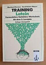 Lehrbuch Latein Vokabeln Formenlehre Satzlehre  Übungen 3. Lehrjahr Lösungsheft