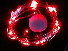 30 LED ROUGE CR2032 Pile 3M SW fil clair - sur ou mode flash vendeur anglais /