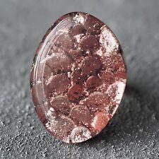 Neu RING mit CAPIZ MUSCHEL rosa/lila GRÖßENVERSTELLBAR FINGERRING farbe silber