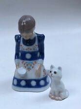 Rare! Bing & Grondahl / Royal Copenhagen Girl w/Cat Figurine 1985 | Denmark