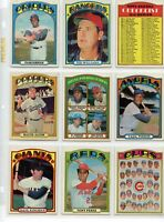 1972 72 Topps LOT YOU PICK SINGLES 12 / $2 -- COMPLETE YOUR SET!! Updated 1/11