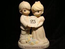 Precious Moments-Couple/Plate-Happy-25'TH Anniversary-w/BOX