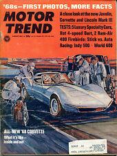 Motor Trend Magazine August 1967 All-New '68 Corvette EX ML 121515jhe