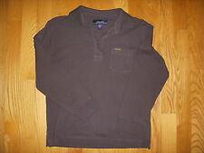 Façonnable Boy's Long Sleeve Piqué Cotton Polo Shirt Brown