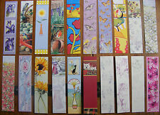 x1 bookmark - flowers, butterflies, dogs, cats - christmas? Stocking? Mother?