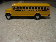 "NEW YORK BIG APPLE YELLOW SCHOOL BUS DIE CAST 5"" L PULLBACK MOTION"