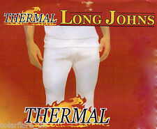 Mens Thermal Long Johns - Optimum comfort cotton blend - Bottoms Only