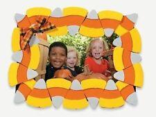 1 Candy Corn Foam Photo Frame Magnet Kit Craft Fall