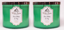 2 Bath & Body Works Rose Water & Ivy Large 3-Wick Candle 14.5 oz