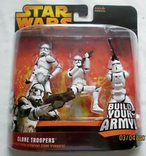 Star Wars ROTS  Clone Trooper Build Your Army 3 Pack,NEW,UNOPENED