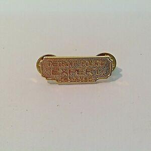 Vintage Detroit Police Pin Revolver Expert Goldtone Backing Letter Clutch MI DPD