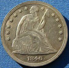 *VERY NICE LOOKING 1846 SEATED LIBERTY DOLLAR - ESTATE FRESH*