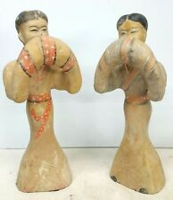 Chinese Tang Dynasty Syle Pottery Dancing Figures