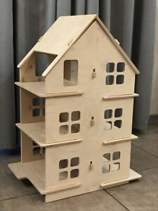 Wooden doll house Montessori toy busyhouse playhouse cottage