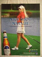 2012 Magazine Advertisement Page For Michelob Ultra Beer Natalie Gulbis Golf Ad