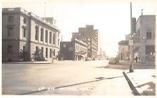 Billings MT~1st Avenue~Mulvaney Motor Co~Dodge Car Dealer~Bus Depot~1940s RPPC