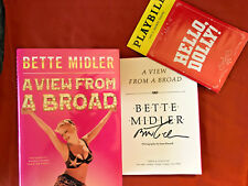 SIGNED IN PERSON BY THE DIVINE BETTE MIDLER*A View From A Broad*1ST/1ST HCDJ WOW