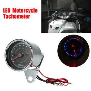 13000 RPM LED Backlight Tachometer Speedometer Gauge Waterproof For Motorcycle