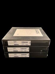 "Set Of 3 IKEA LACK 11-3/4"" x 10-1/4"" x 2"" Black Floating Shelves 404.305.88 NEW"